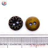 Novíssimo Nicekel preta atacado de fantasia botões metálicas livres, alternância de metal de cobre de moda cubra os botões do Orifício