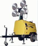 둥글거나 정연한 4*1000W/1500W 금속 할로겐 유압 망원경 수직 등대 단일 위상 수동 유압 다리