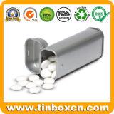 Nahrungsmittelgrad-Metallsüßigkeit-verpackenkasten-rechteckiges Gummi-Zinn