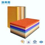 Panneau de mur acoustique décoratif coloré de fibre de polyester et panneau de plafond