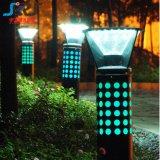 RGB Dimmable 정원을%s 까만 태양 LED 잔디밭 빛