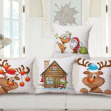 Merry Christmas Knitting machine Linen Printed Cushion Cover for Sofa (35C0177)