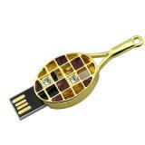 Mini U disco di tennis della racchetta della penna di Drie del bastone di cristallo di lusso