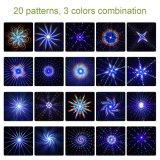 Afstandsbediening van de Flits driemaal rf van de Decoratie van Kerstmis van de Laser van de toorts de Lichte RGB Snelle (NL69)
