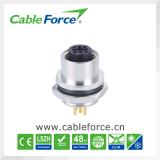 Le CEI 61076-2-101 IP67 imperméabilisent le connecteur mâle de support de panneau du connecteur M12 5pin avec des contacts de carte
