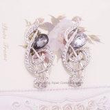 La nota musical broches de cristal para las mujeres invitación Estrás Broches joyas moda Broche Cristal (BR-07)