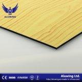 Textura de mármol y madera Panel Compuesto de Aluminio