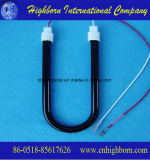 Fibra de carbono del tubo de calentamiento de la halógena de infrarrojos de cuarzo