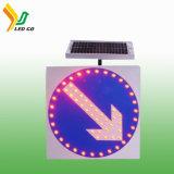 Signe de route actionné solaire de circulation effet d'avertissement neuf DEL de modèle du bon