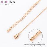 44095 Gold-Plated Legierungs-Kupfer-nachgemachte Schmucksache-Ketten-Halskette des Form-kühles Beispiel18k