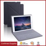 Cubierta de cuero ultra delgada del soporte de la caja del teclado de la PU Bluetooth para el iPad