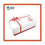 Custom pequeño y elegante caja de regalo de cartón blanco con tapa