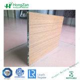 Personnalisable d'épaisseur du grain du bois ignifugé panneau alvéolé