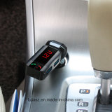 Bluetooth manos libres inalámbrico de gran calidad Auto Transmisor FM USB Cargador de coche con el encendedor de cigarrillos