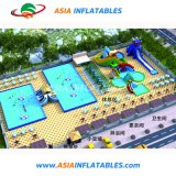 Het openlucht Park van het Water van de Spelen van de Dia van het Water Opblaasbare met Zwembad