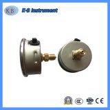 SS304 asunto interno de latón y el Movimiento de los manómetros de presión manómetros