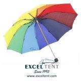 Качество радуга в три раза зонтик для леди (TKET-1051)