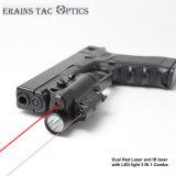 Multifuncional tático montado pistola Glock 3 em 1 vermelho e laser infravermelho Vista com uma lanterna LED