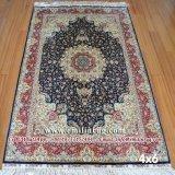 4X6 Красный ручной работы восточных шелковые персидские ковры Heriz для продажи