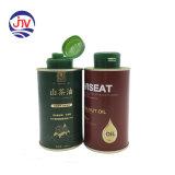 Pequenos de metal podem 250ml de azeite do recipiente de armazenamento de estanho