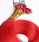 De rode Uitbreidingen van het Haar van het Uiteinde van de Spijker van 10 Duim