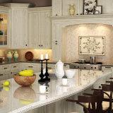 Белый L Форма Вуд кухонный шкаф с острова (OP15-S05)
