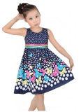 Les filles Dress Navy Blue Butterfly Partie de l'École de la taille de l'enfant 4-12