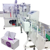 Essuie-main mol de tissu facial enveloppant la machine à emballer