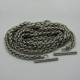 """Nuova catena del metallo della borsa di modo con il tappo montato dell'anello a """"D"""" degli ami"""