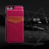 Кожаный случай бумажника iPhone с владельца карточки на iPhone 6