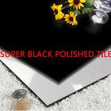 Azulejo de porcelana polida de corpo inteiro Super Black (SB602A)