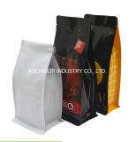 Прокатанные материальной выровнянные алюминиевой фольгой изготовленный на заказ мешки кофеего печатание цвета