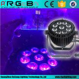 Rigebaの新しい防水製品: 9LEDs 15W RGBWA+UV 6in1ディスコ、棒、ナイトクラブのための屋外LEDの同価ライト使用