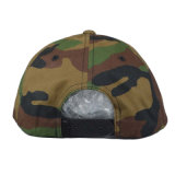 Yupoong parches bordados 5 Camo personalizado Panel Snapback Caps