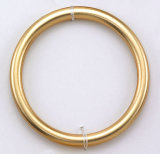 50mm Metallic Matt Gold Plastic O Ring