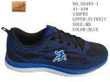 Chaussures de course en tricot à deux couleurs