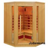Stanza d'angolo dell'interno della stanza infrarossa di sauna di Joda di alta qualità
