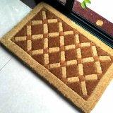 手織機のハンドメイドの非ブラシによって編まれるはめ込まれたクリールの通路のオランダのパナマココヤシのシュロのココナッツファイバーの敷物のカーペットのドアの床のマット