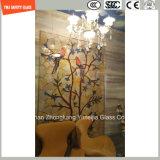 l'impression de Silkscreen de peinture de 3-19mm Digitals/gravure à l'eau forte acide/se sont givrés/plat de configuration/ont déplié Tempered/verre trempé pour le mur/étage/partition d'hôtel/à la maison avec SGCC/Ce&CCC&ISO