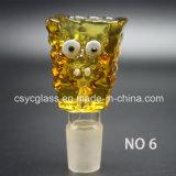 6 tipo tazón de fuente de cristal colorido