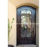 Porte en acier se pliante extérieure de fer utilisée par maison d'entrée de portes