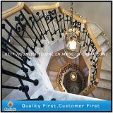 Естественный Белый/бежевый/черного мрамора шаги по лестнице для украшения для установки внутри помещений