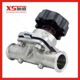 Acier inoxydable sanitaire AISI316L Vanne d'arrêt à membrane, raccord soudé DIN 11850
