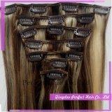 フランス製毛の拡張のRemyのヘアークリップ
