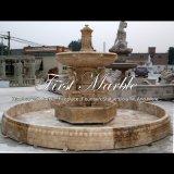 De antieke Fontein van het Standbeeld van de Travertijn voor Gift mf-371