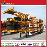 3 Behälter-Transport-Skeleton LKW-halb Schlussteil-Stahlchassis der Wellen-20FT 40FT