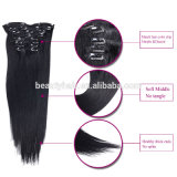 Virgin non trattato Remy 100 Human Hair, Hair Clip, Clip in Hair Extensions per le donne di colore