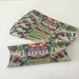 Rectángulos de papel de encargo plegables de la almohadilla del rectángulo de regalo del papel de la almohadilla de la impresión para los guantes/la pila de discos de las bufandas