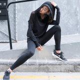 Usura lunga di ginnastica della camicia della maglia del nero della camicia di ginnastica del manicotto