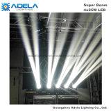 4X25W LEDの極度のビームライトディスコの軽い段階ライト